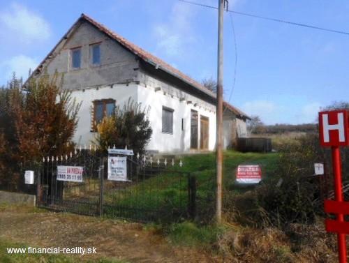 Dedinka - rozostavaný rodinný dom na predaj